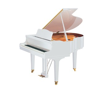 Yamaha's upcoming white GB1K grand piano