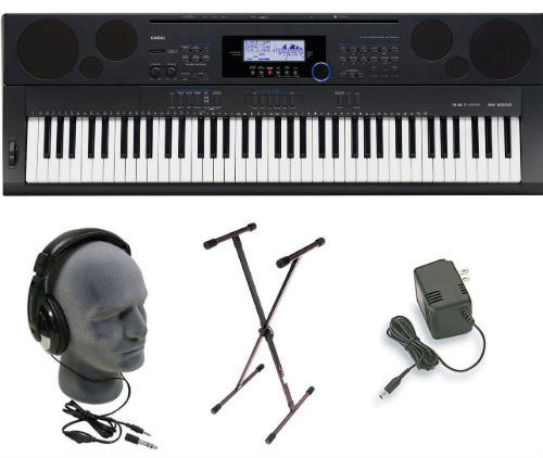Casio WK6500 piano bundle
