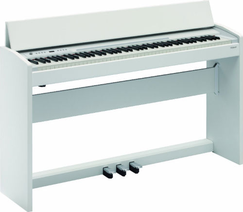 The Roland F-120 in white