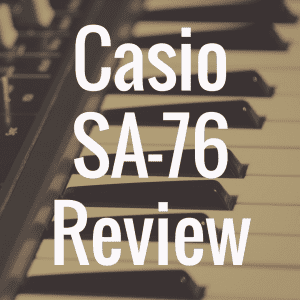Casio SA-76 digital piano review
