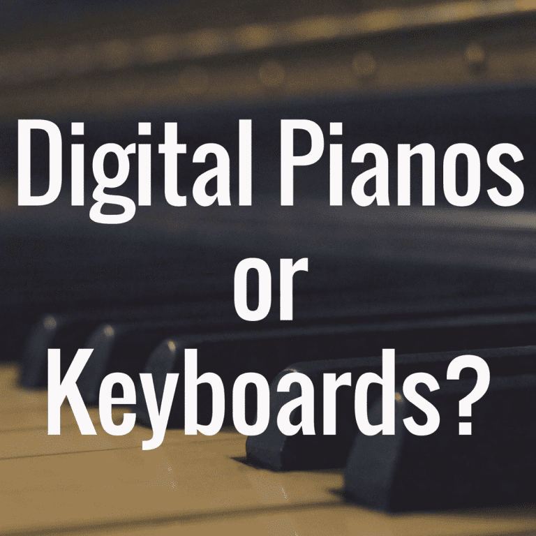 What's Different Between a Digital Piano and Keyboard?