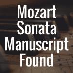 Mozart's A major piano sonata K331 manuscript found in Hungary