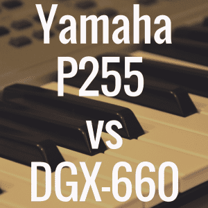 Yamaha P255 vs Yamaha DGX-660: Comparison Review