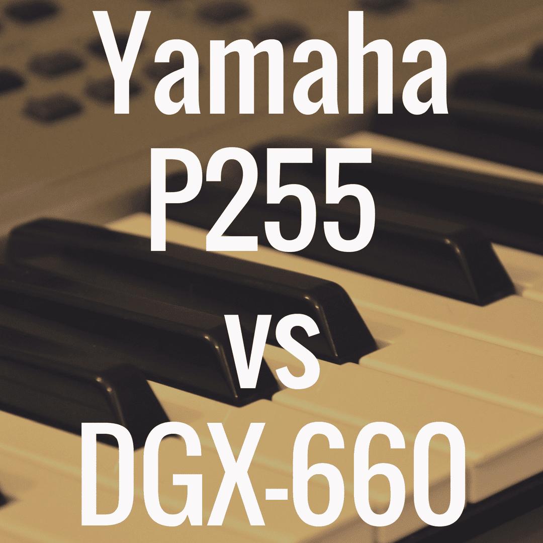Yamaha P255 vs Yamaha DGX-660: Comparison Review