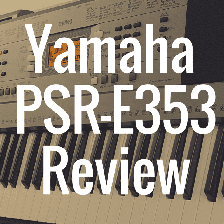 Yamaha PSR-E353 review