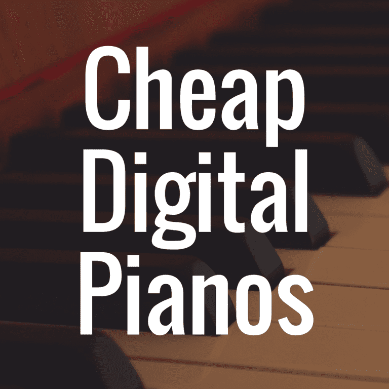 Ranking the Best Cheap Digital Pianos with Weighted Keys