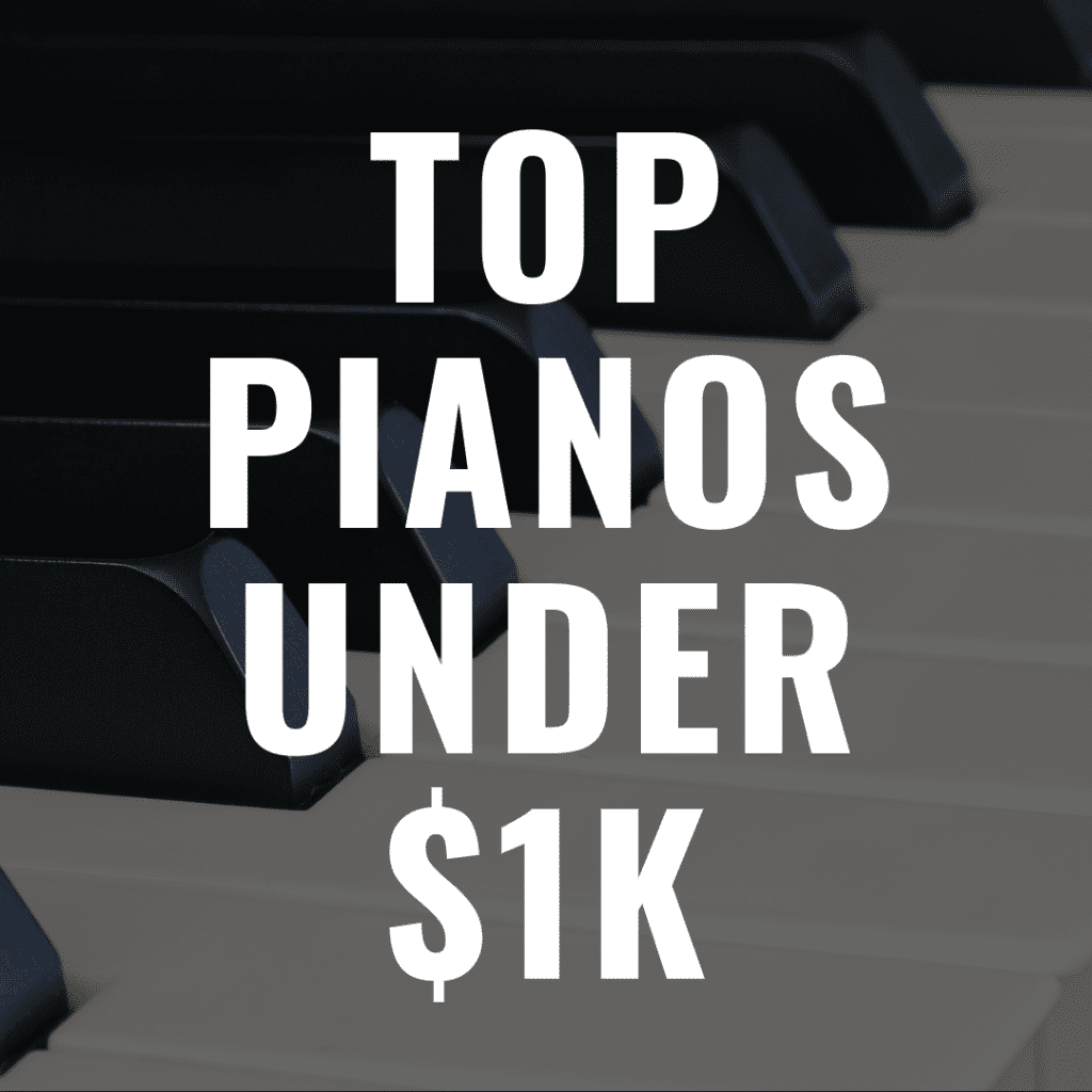Discover some of the 13 Best Digital Pianos Under $1,000 in 2019